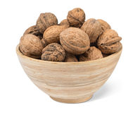 Organic Walnuts in bowl Stock Photography