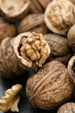 Organic Walnuts. Fresh organic walnuts close up stock photography