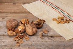 Organic Walnuts Royalty Free Stock Photos