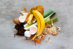 Organic waste to make compost Royalty Free Stock Images