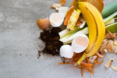 Organic waste to make compost Royalty Free Stock Image