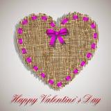 Organic weave heart Stock Photography