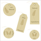Organic Wheat Natural Labels / Tags Stock Image
