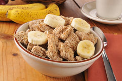 Organic whole wheat cereal Royalty Free Stock Image