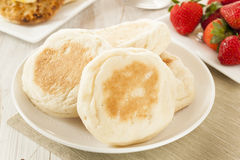 Organic Whole Wheat English Muffins Stock Image