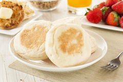 Organic Whole Wheat English Muffins Royalty Free Stock Photo