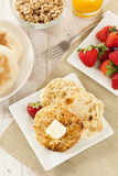 Organic Whole Wheat English Muffins Stock Images