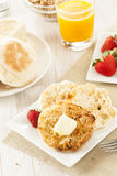 Organic Whole Wheat English Muffins Royalty Free Stock Image