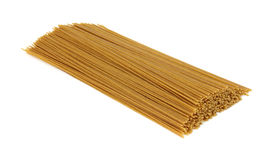 Organic whole wheat spaghetti Stock Images