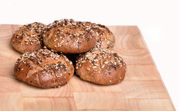 Organic wholemeal bread. Fresh, warm organic wholemeal bread, with seeds Royalty Free Stock Photo