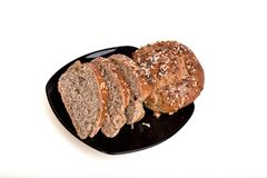 Organic wholemeal bread. Fresh, warm organic wholemeal bread, with seeds Royalty Free Stock Image