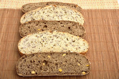 Organic wholemeal bread. With whole grain Royalty Free Stock Photos