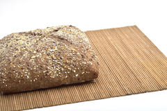 Organic wholemeal bread. With whole grain Stock Images