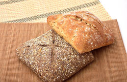 Organic wholemeal bread. With whole grain Stock Photo