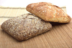Organic wholemeal bread. With whole grain Stock Photography