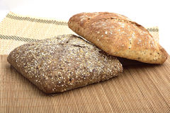 Organic wholemeal bread. With whole grain Royalty Free Stock Photo