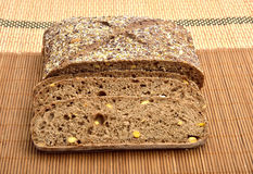 Organic wholemeal bread. With whole grain Stock Photos