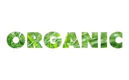 Organic word concept Royalty Free Stock Photography