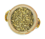 Organic wormwood in small bowl Stock Image