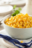 Organic Yellow Steamed Corn Royalty Free Stock Images