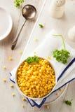 Organic Yellow Steamed Corn Royalty Free Stock Photo