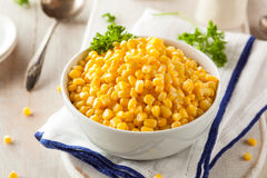 Organic Yellow Steamed Corn Royalty Free Stock Photo