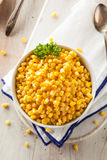 Organic Yellow Steamed Corn Stock Images