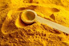 Organic Yellow Turmeric Powder Stock Image