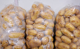 Organic Young Potatoes In A Plastic Bags Royalty Free Stock Image