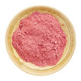 Organic yumberry powder Royalty Free Stock Photos