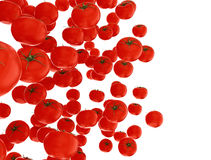 Organically grown red tomatoes Stock Photo