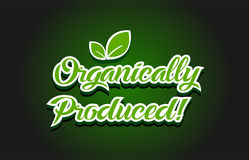 Organically produced text logo icon design Stock Images