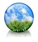 Organico, icona del globo del cerchio della natura Fotografie Stock Libere da Diritti