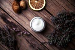 Organicznie śmietanki, płukanki dla twarzy i ciało, Naturalna opieka dla piękno zdrowie i młodocianej skóry Eco kosmetyki Fotografia Stock