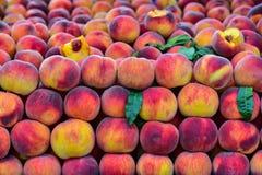 Organicznie świeże brzoskwinie zdjęcie royalty free