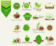 Organicznie świeżej żywności etykietki etykietki majcher dla reklamy Zdjęcie Stock