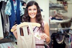 Organicznie bawełny suknia zdjęcia stock