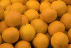 organicznie bazar pomarańcze Fotografia Royalty Free