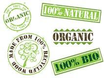 organicznie ekologia znaczki royalty ilustracja