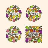 Organicznie etykietka set Obrazy Royalty Free