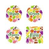 Organicznie etykietka set Obraz Royalty Free