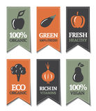Organicznie Etykietki Obrazy Stock