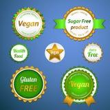 Organicznie etykietki, logowie i majchery, Zdjęcie Royalty Free