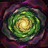 Organicznie Fractal kwiat royalty ilustracja