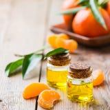 Organicznie istotny tangerine, mandarynka, clementine olej obraz royalty free