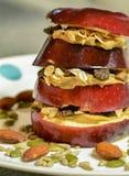 Organicznie Jabłczana kanapka Fotografia Stock