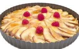 Organicznie jabłczany kulebiak zdjęcia royalty free