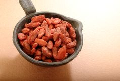 organicznie jagody goji Zdjęcia Stock