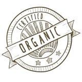organicznie karmowa etykietka Zdjęcie Royalty Free