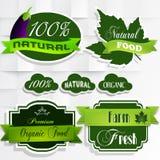 organicznie karmowe element etykietki Zdjęcie Stock